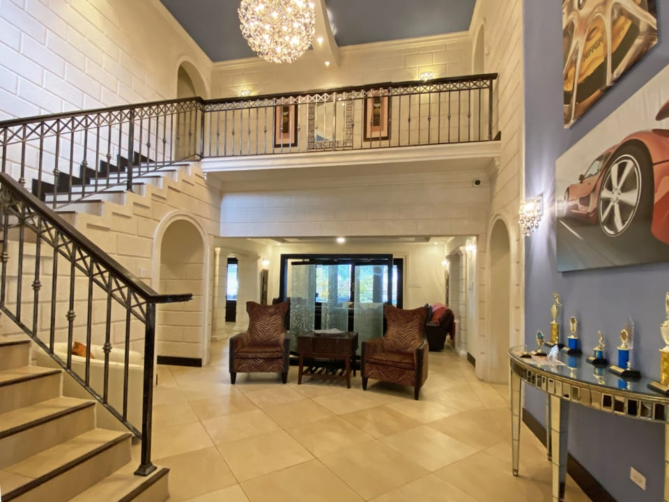 Foyer with Cathedral ceilings