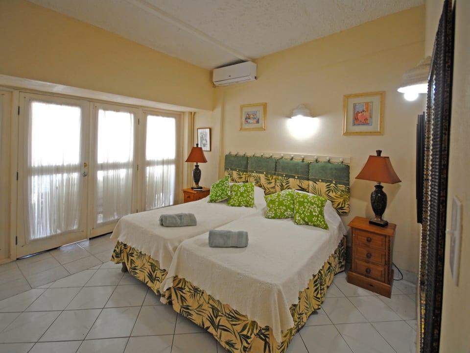 Bedroom opens to covered verandah