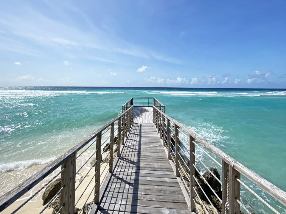 Blissful sea views from private jetty