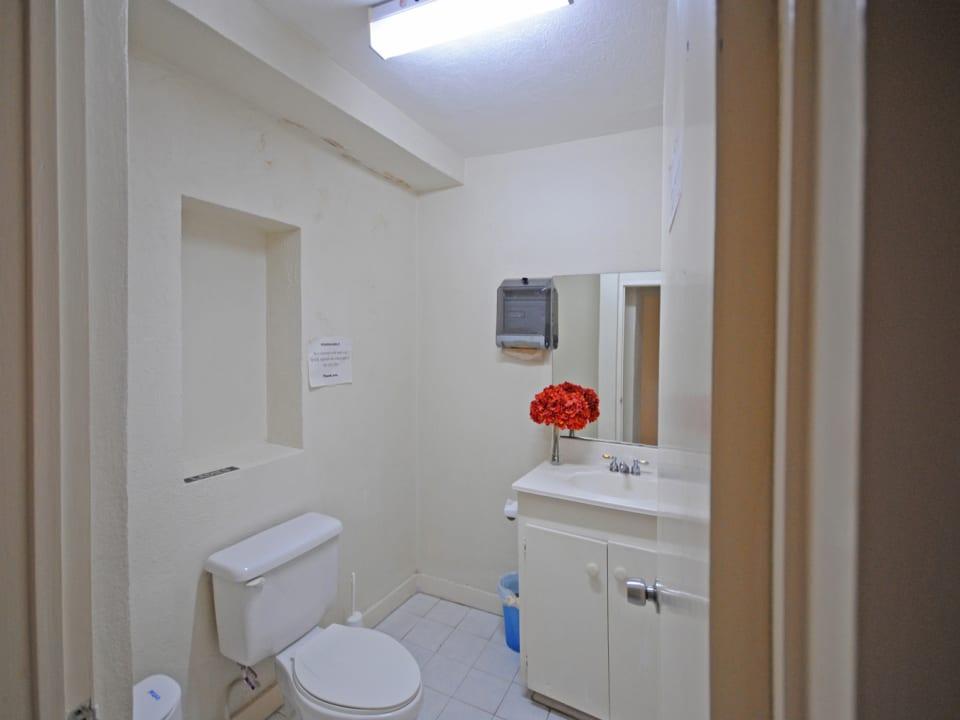 Ground floor office bathroom