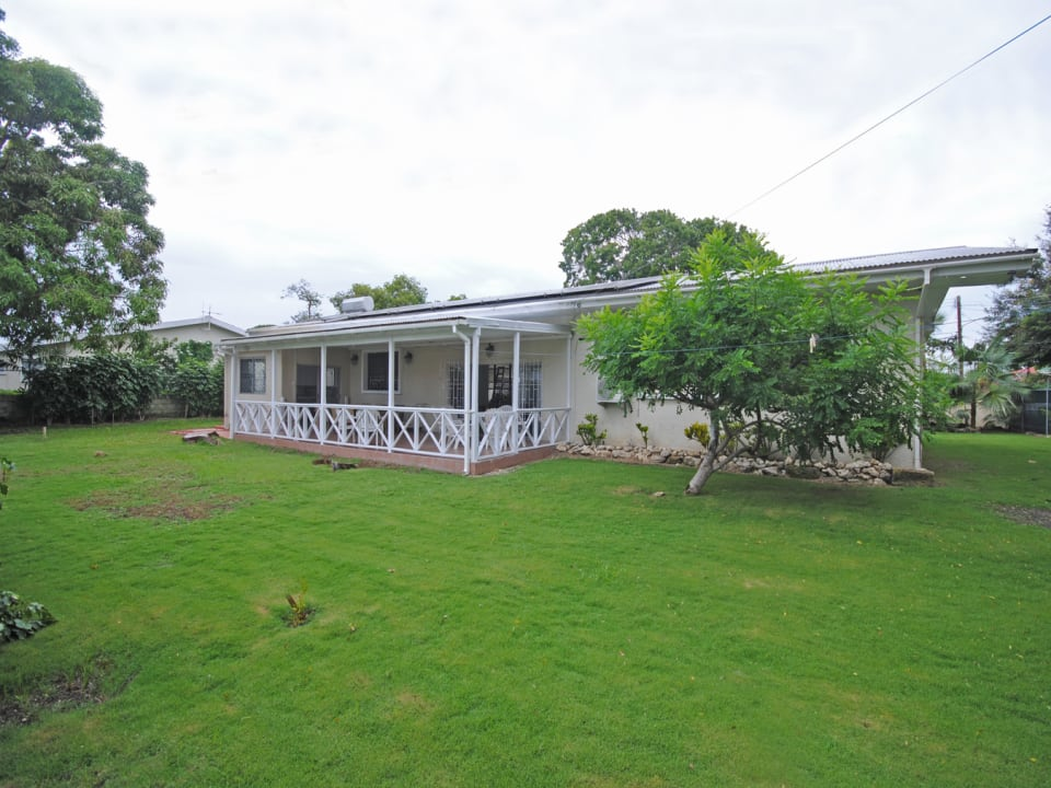 View of house from lawn