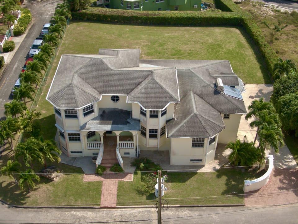 Beautiful shot of the house with the additional lot