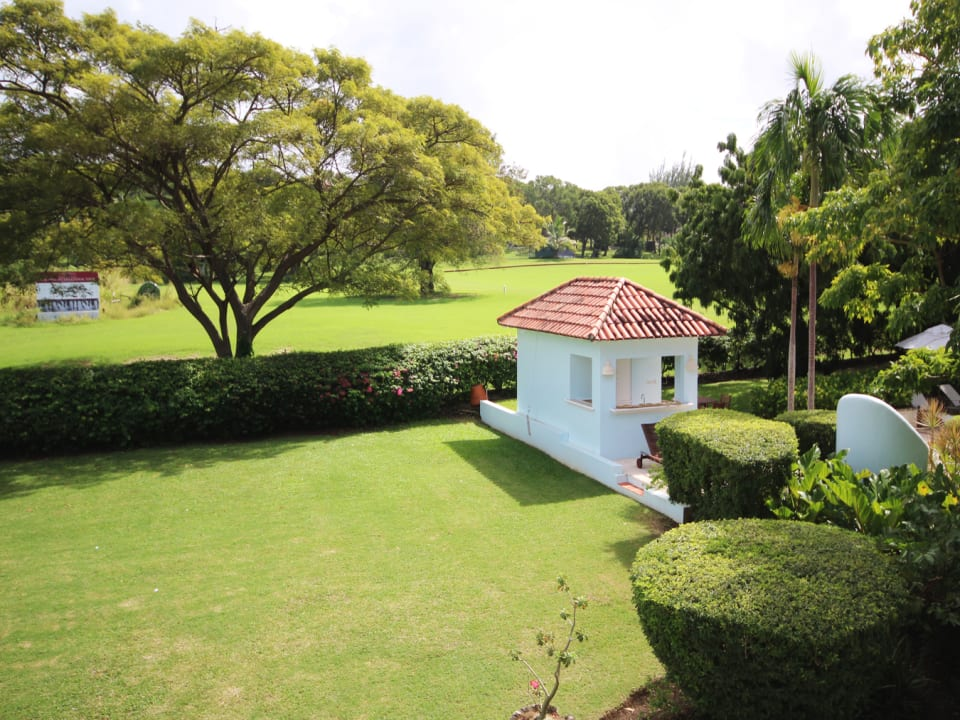 View of the garden and polo field