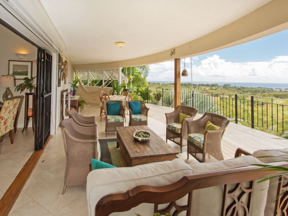 Expansive Patio with South Coast Views