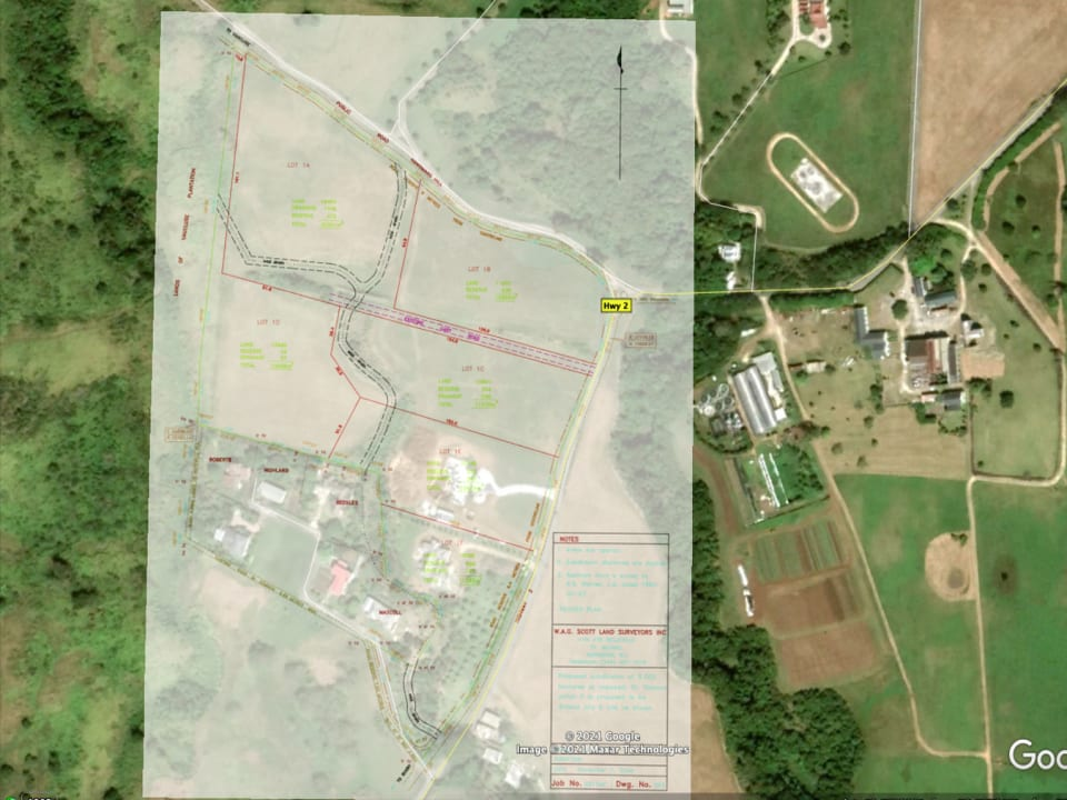Site plan overlay