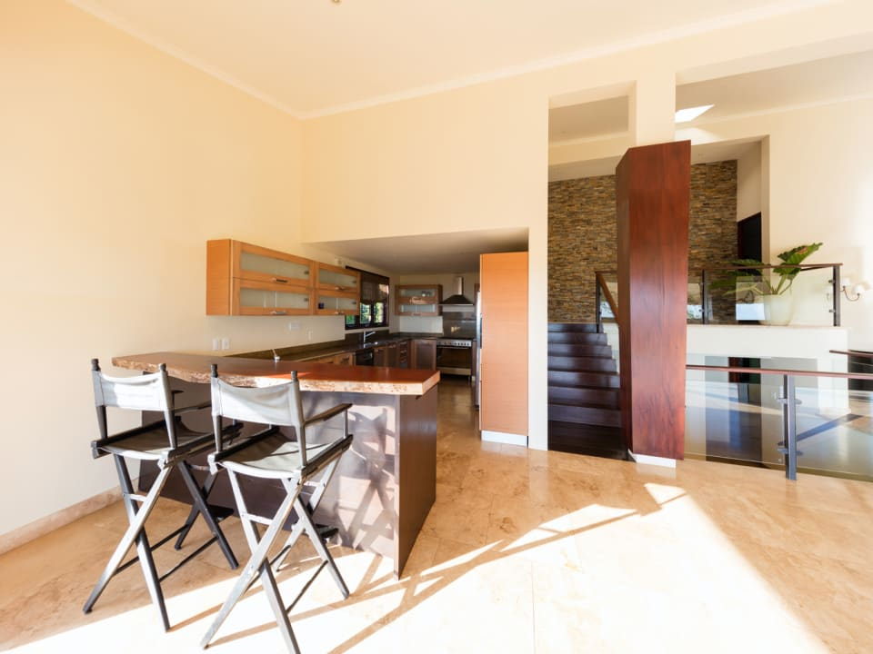 Kitchen with sit up bar