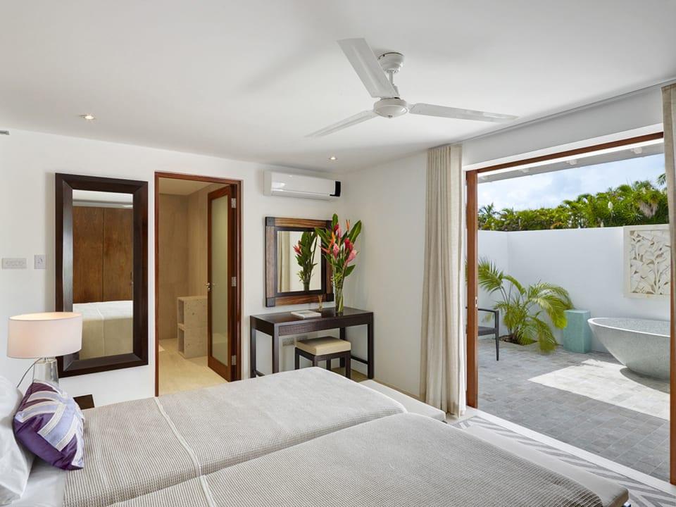 Bedroom 2 has ensuite bathroom and outdoor tub courtyard