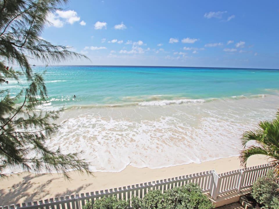 White sandy beach infront