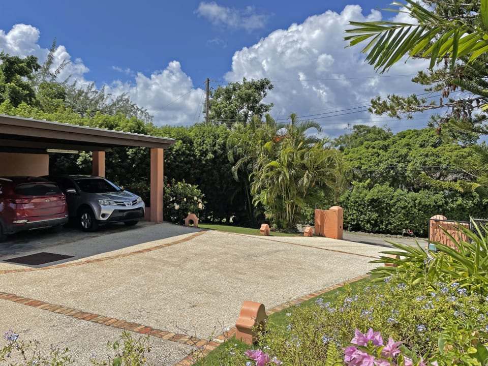 Private driveway and car port