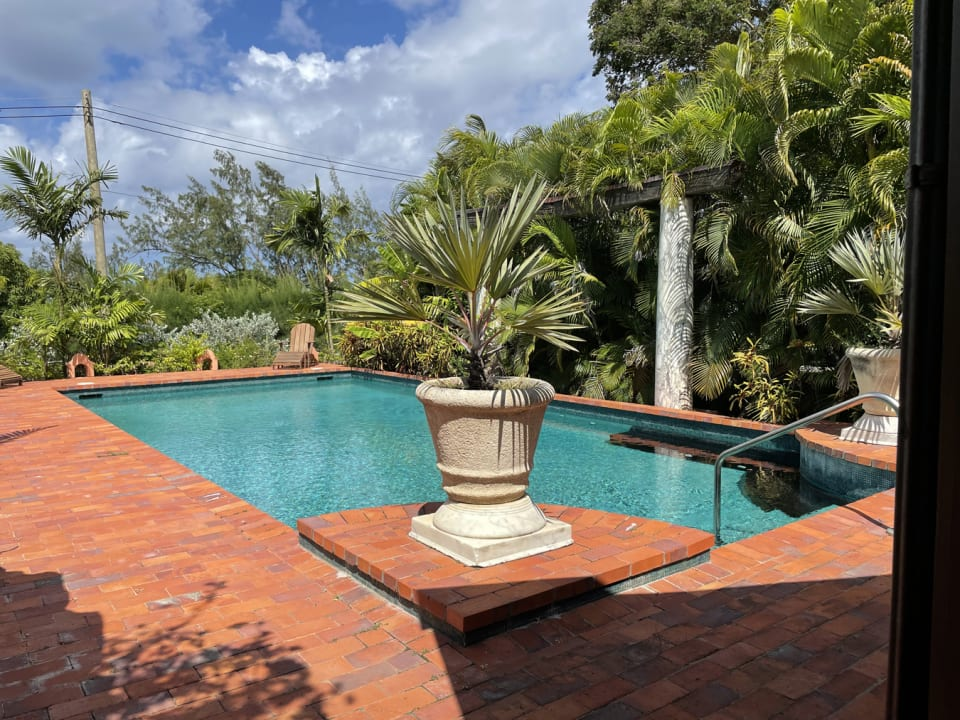 Lovely pool on western side of house