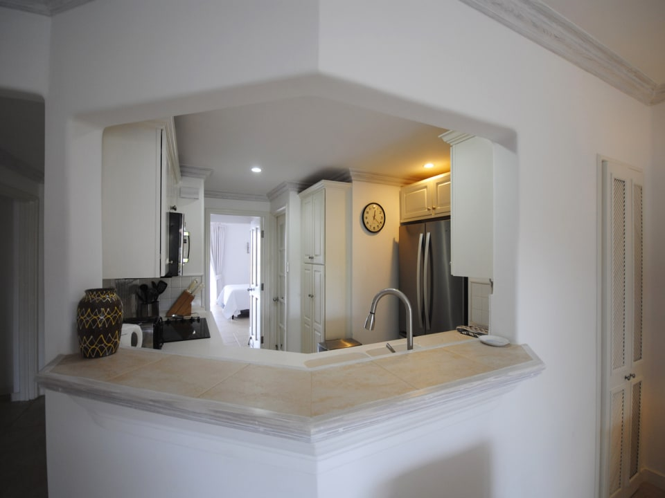View of Kitchen from living room