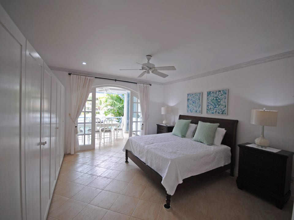 Main bedroom opens to dining terrace