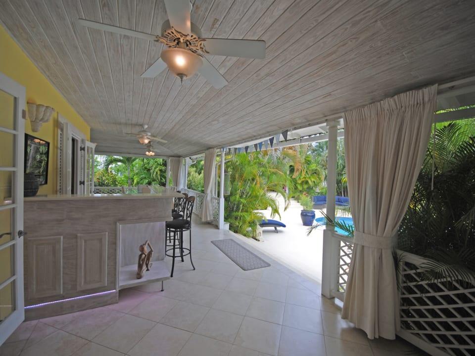 Bar on veranda