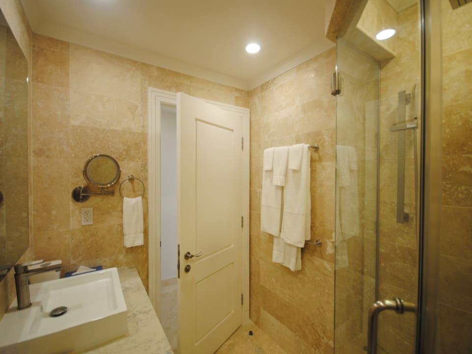 Bathroom 3 has a shower