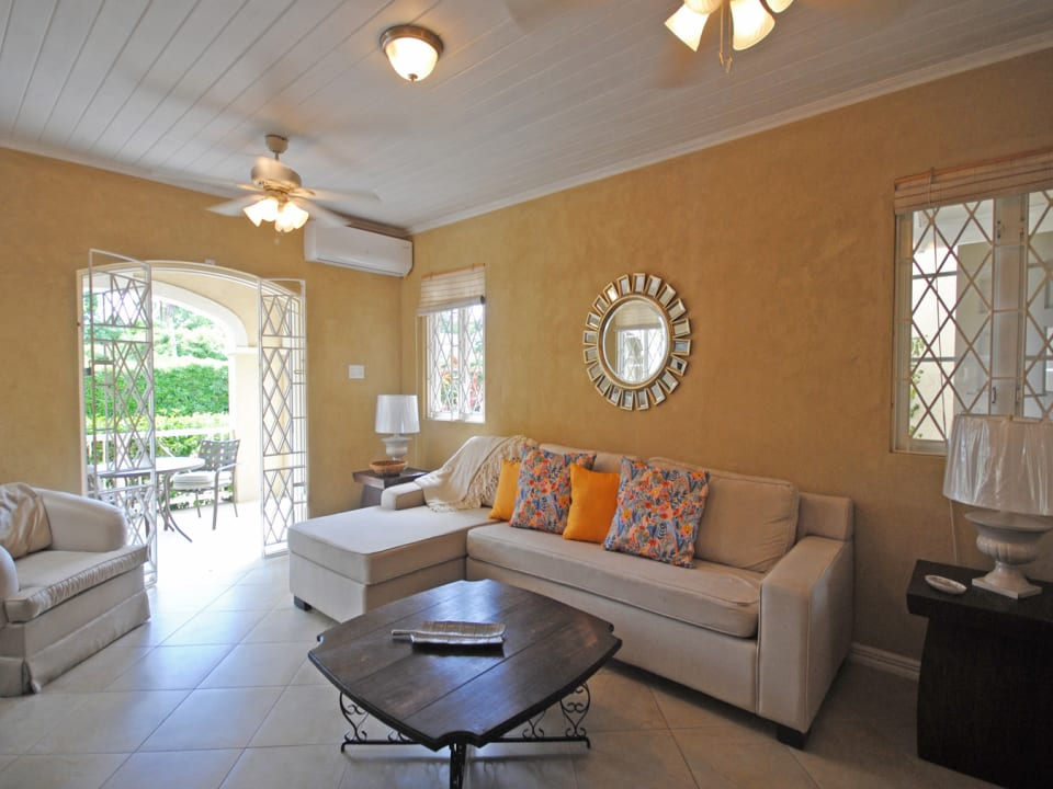 Living room is air conditioned
