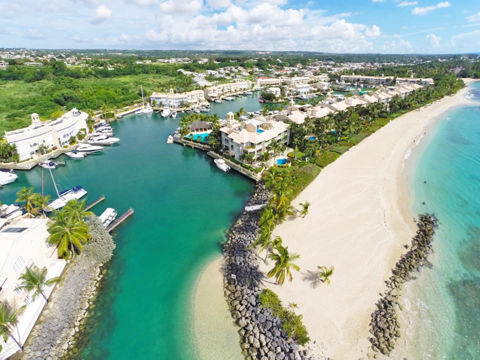 Aerial view of Port St. Charles