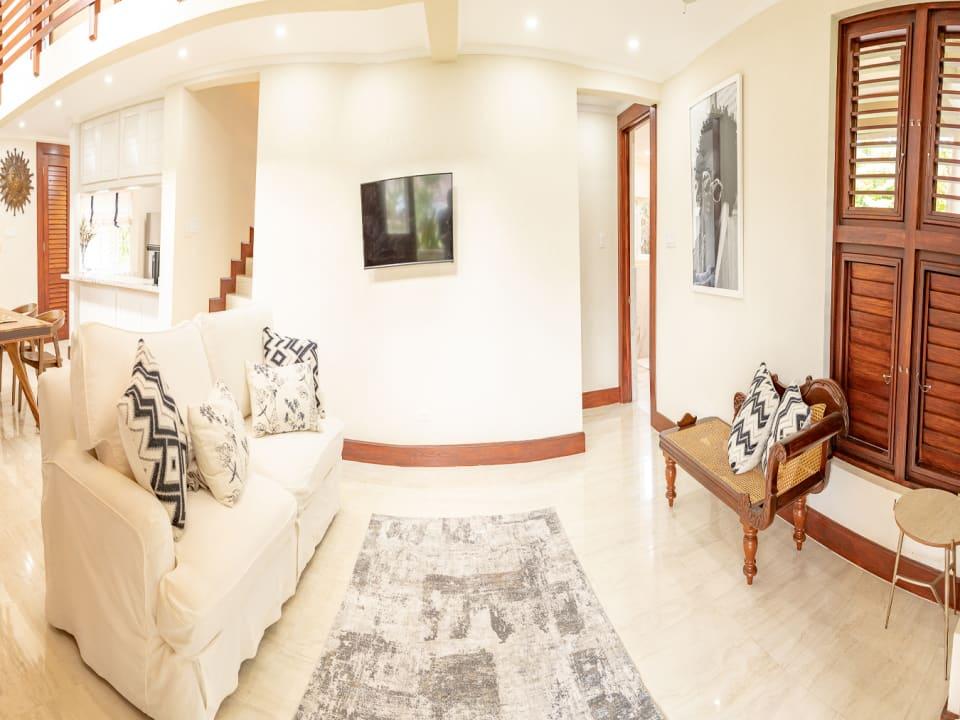 Sitting room opens to veranda