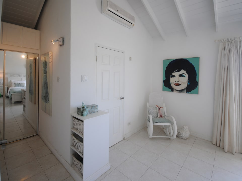Main bedroom has extensive closet space