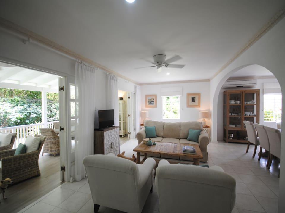 Sitting room opens to covered verandah