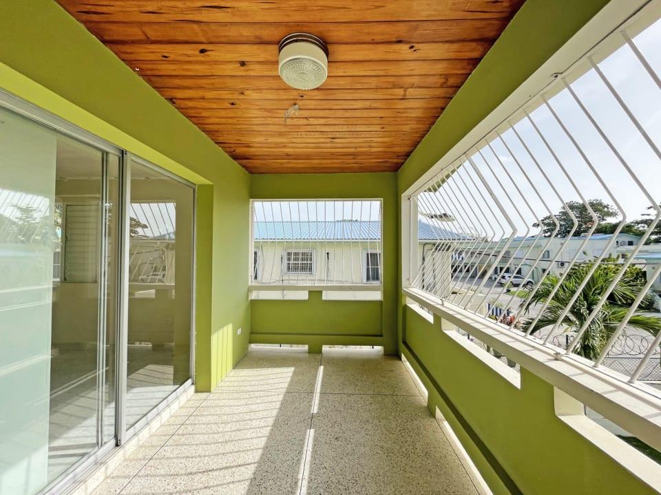 Upstairs patio