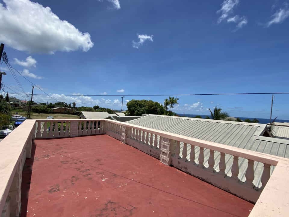 Rooftop terrace with a sea view