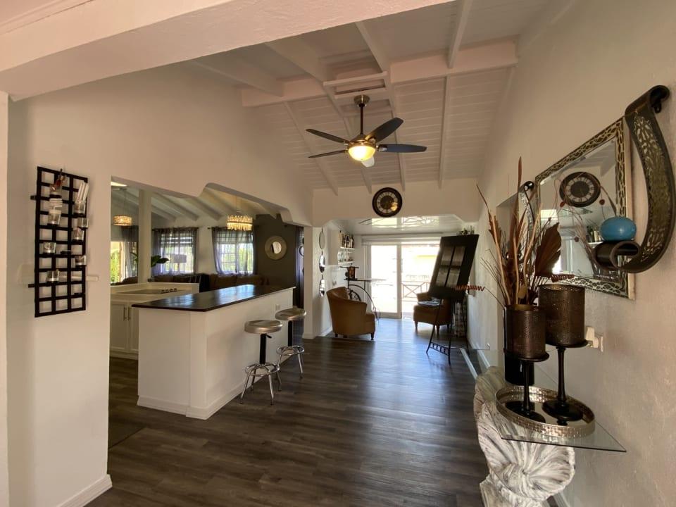 Area between kitchen and bedrooms