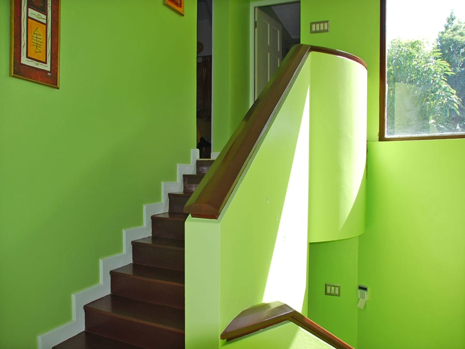 Stair case to the bedrooms and office