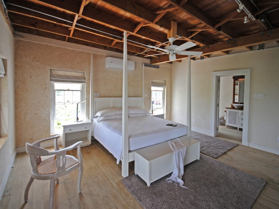 Main bedroom of the Panboiler 2 bed apt