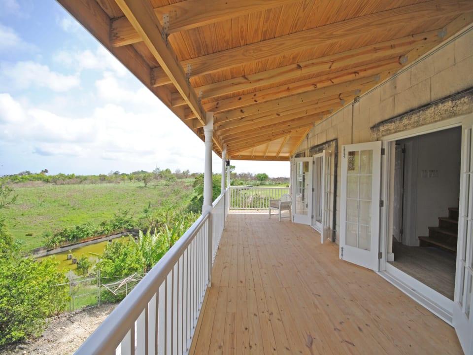 Wide verandah of Panboiler 2 bedroom apt