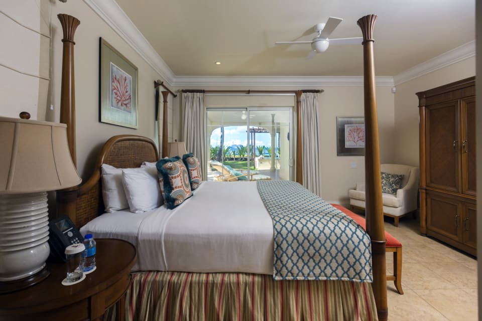 Master Bedroom with private balcony and view of the ocean