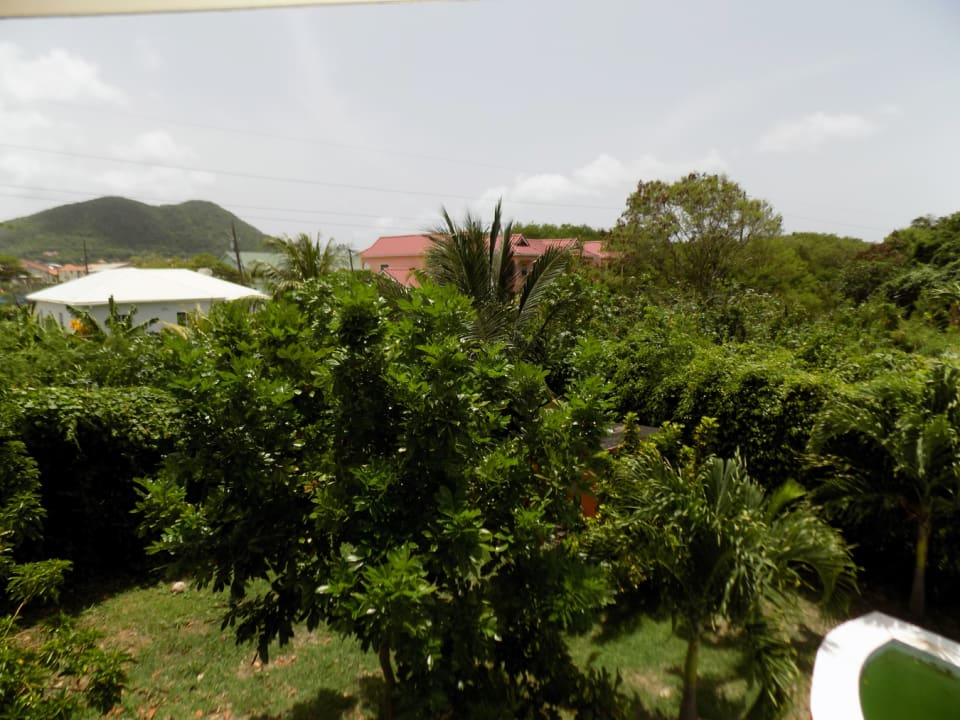 View of distant Rodney Bay from the master balcony