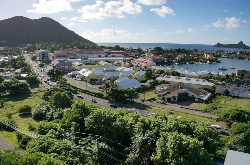 Rodney Bay, commercial hub of the north of the island