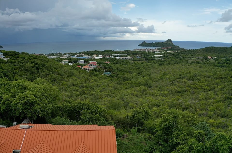 View of Gros Islet/Pigeon Island from Posada Forestal