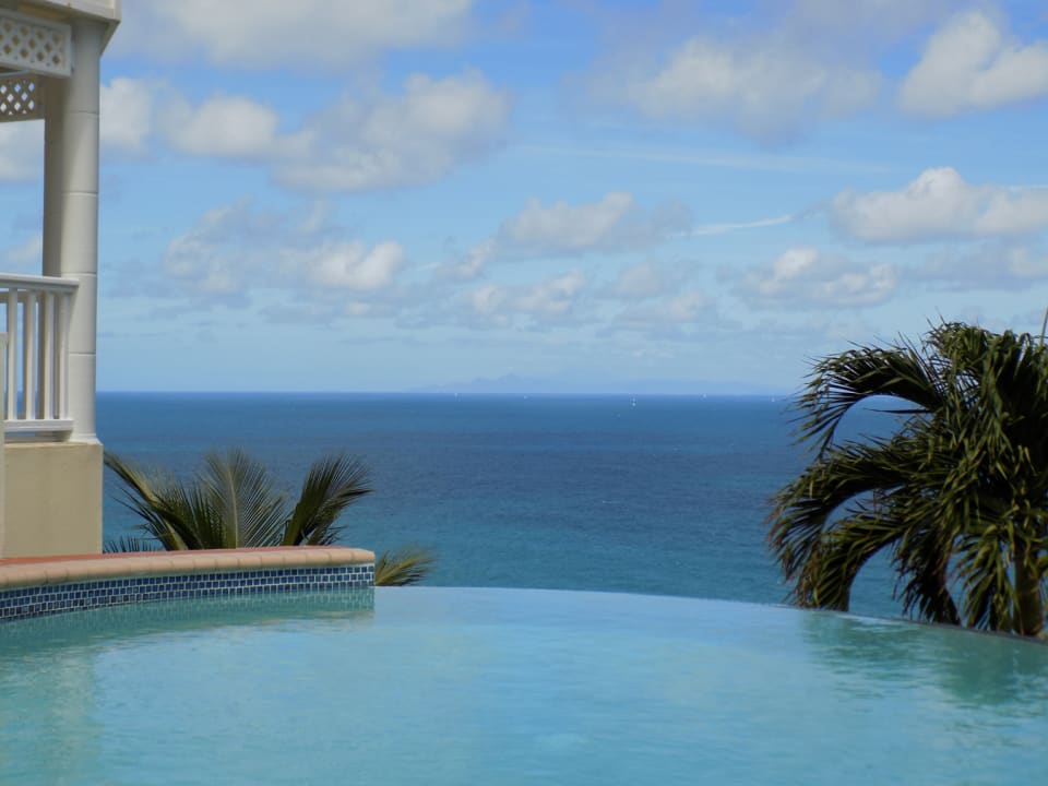 Views of Martinique from the infinity edge