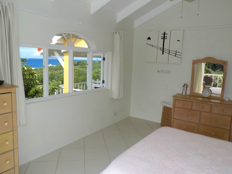 Countryside and Seaviews from Master Bedroom