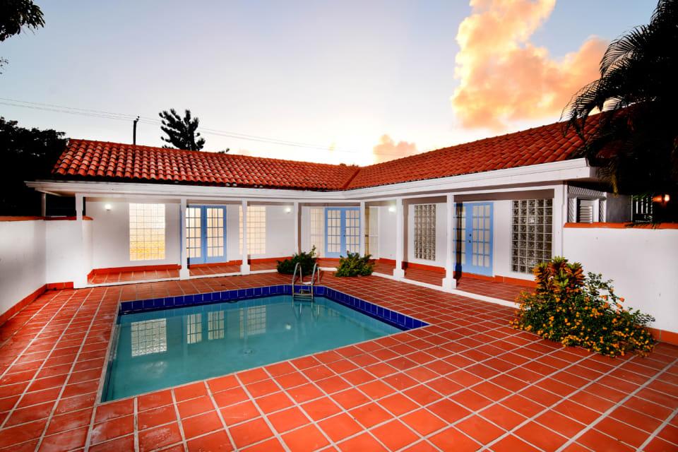 Pool area of Villa 1