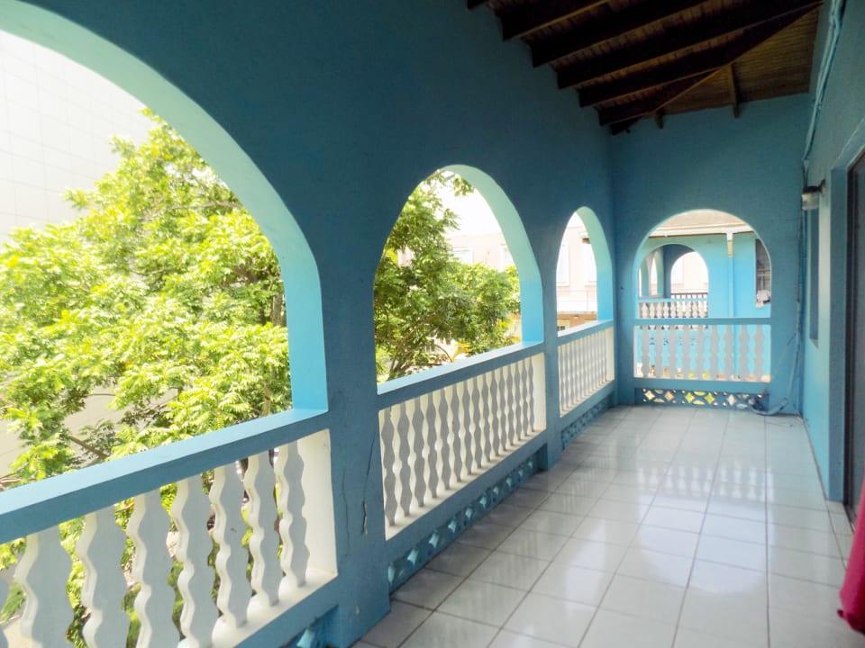 Living room balcony; further ahead is the master bedroom balcony