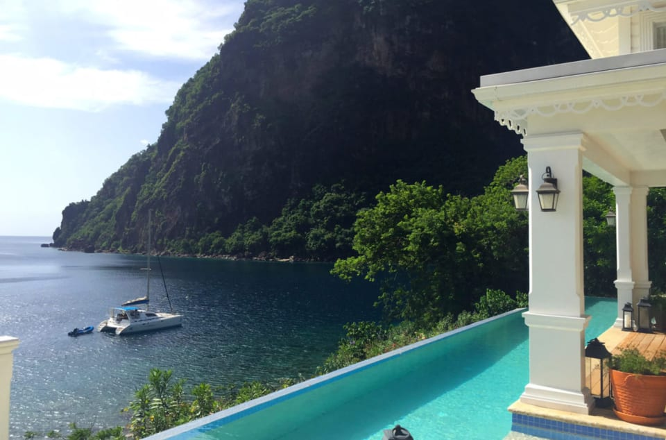 View of the piton
