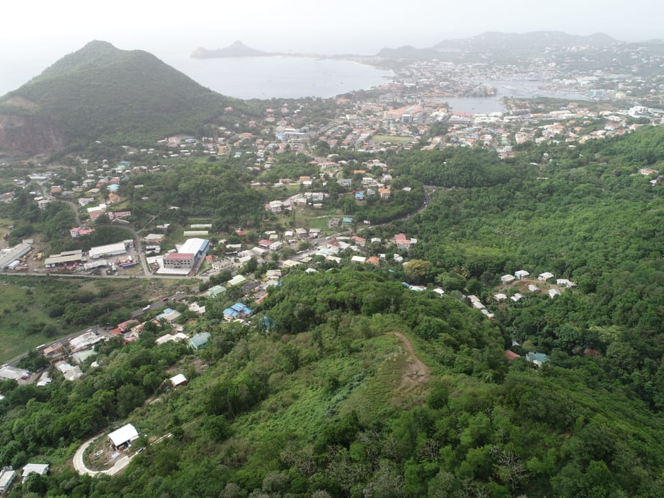View of Rodney Bay, the Caribbean Sea & surrounding area