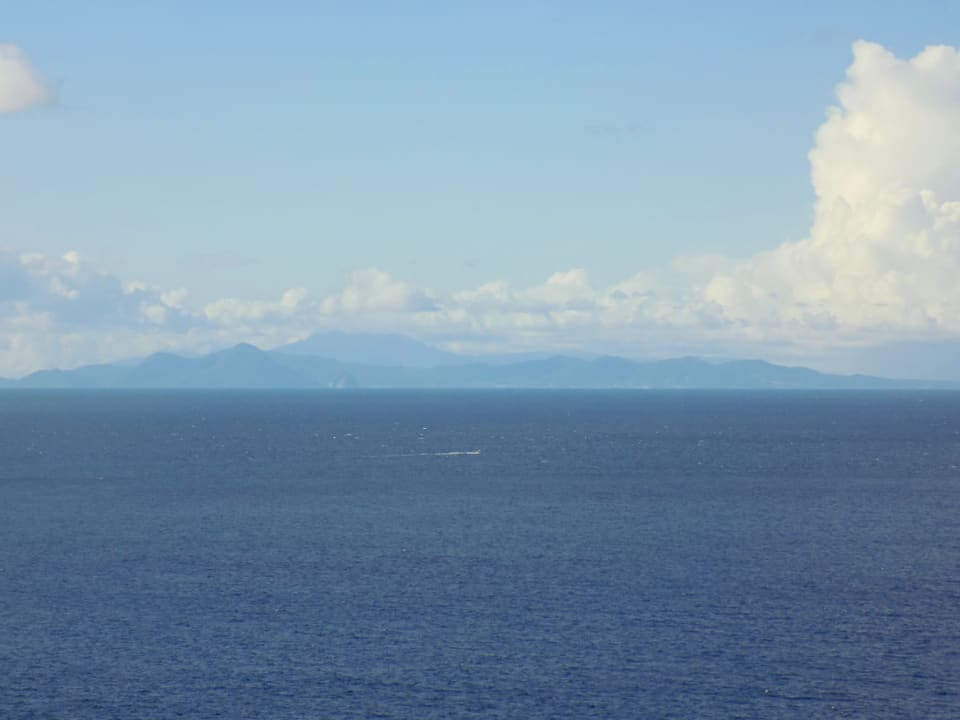 Uninterrupted views of Martinique on a clear day