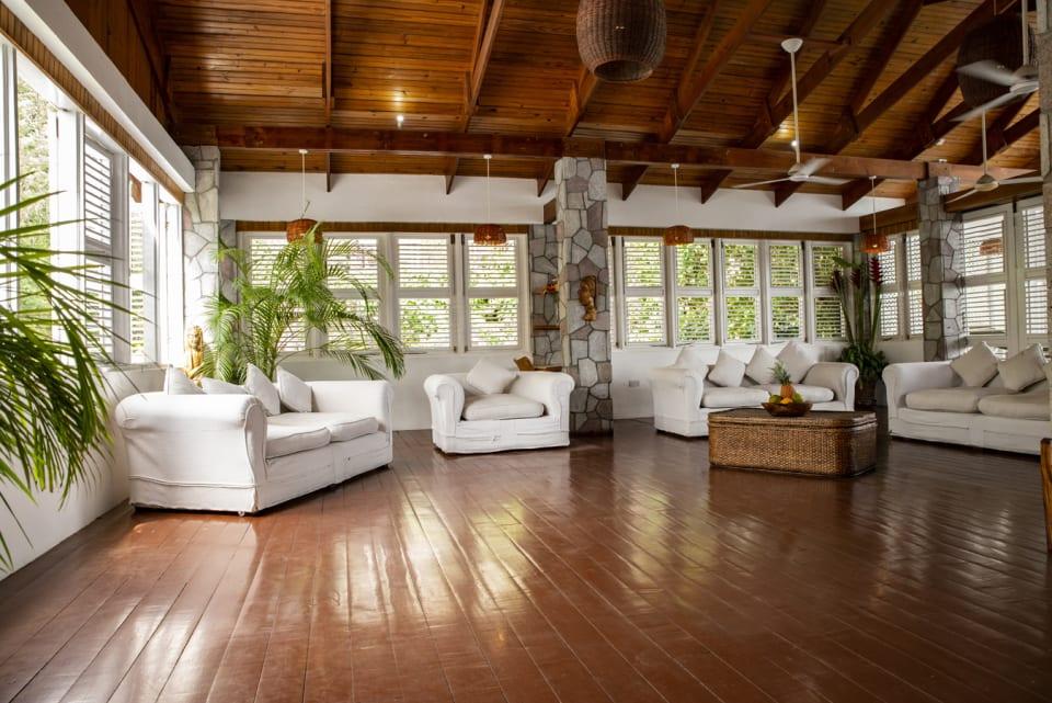 Genuine Hardwood Floors in Living Room