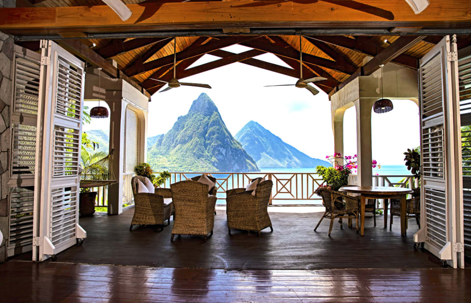 Awesome views of The Pitons