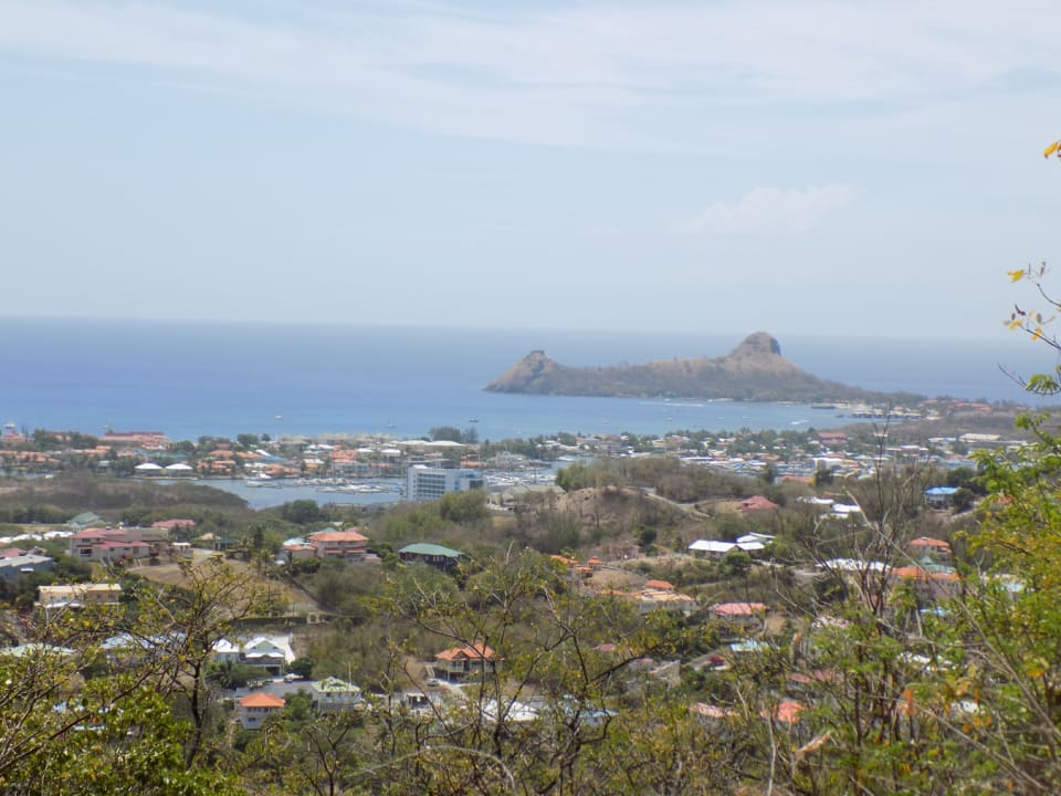 Views looking north-west to Pigeon Island