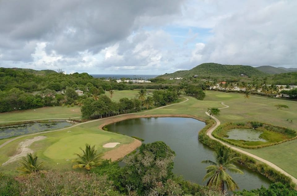 Aerial view of adjoining Golf Course & Ocean