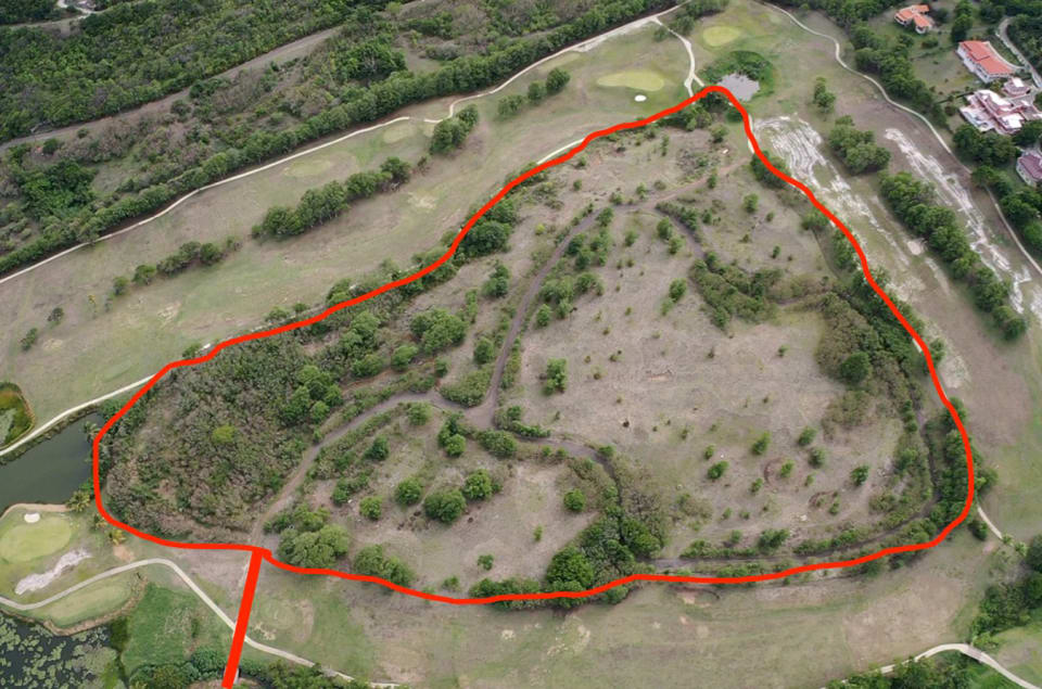 Overhead View - with boundary demarcation