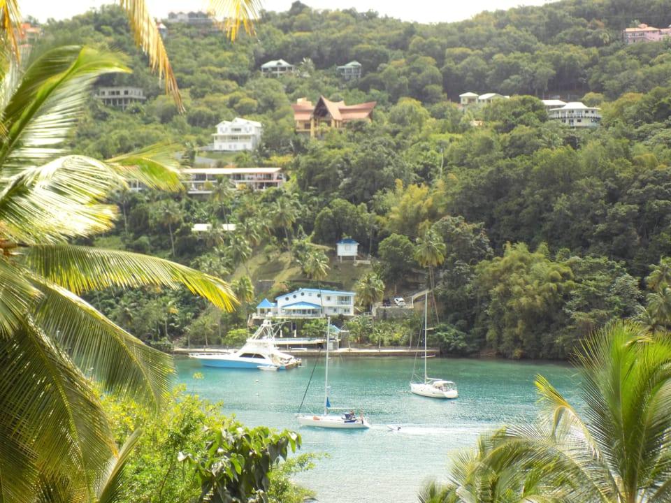 Overlooking Marigot Bay