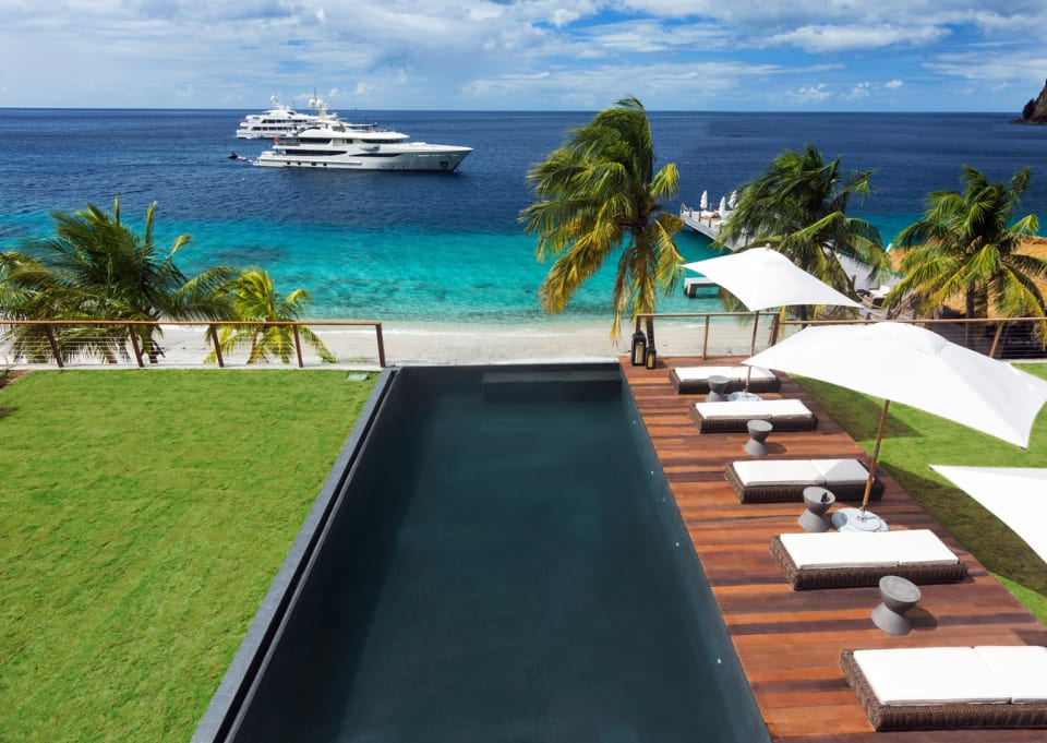 Pool deck view in the daytime