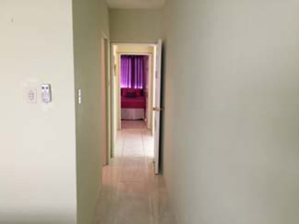 view from the master bedroom to the 2nd bedroom
