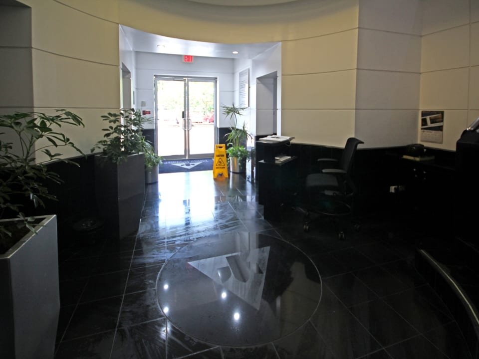 Foyer with manned security