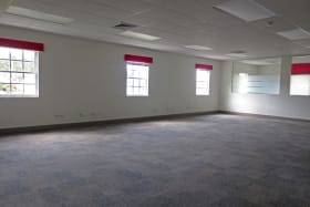 Open plan office area